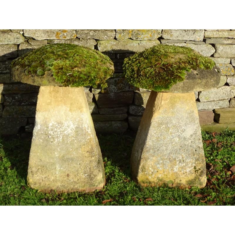 Antique Limestone Staddle Stones