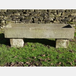 Antique Stone Trough on Blocks