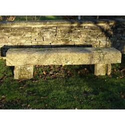 Large Antique Stone Seat