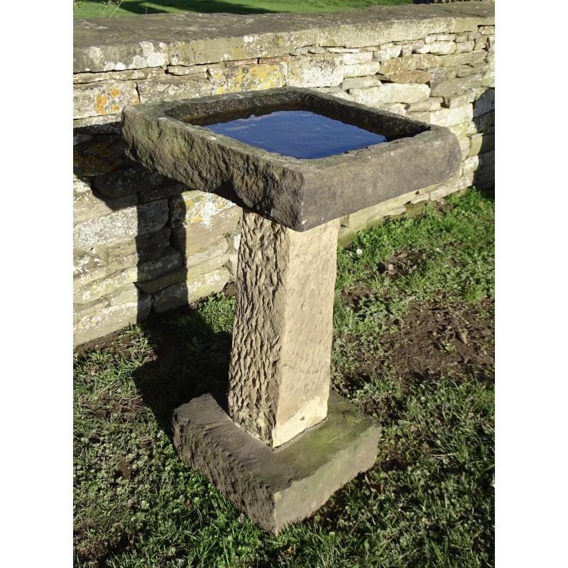 Antique Stone Birdbath