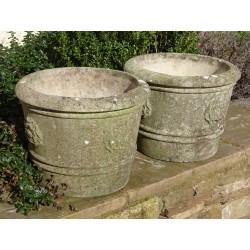 Tudor Rose Planters (Pair)