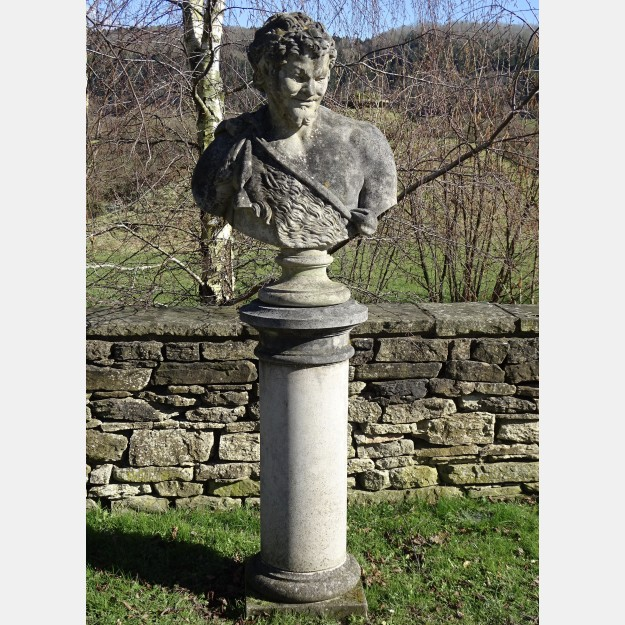 Weathered Bust of Bacchus