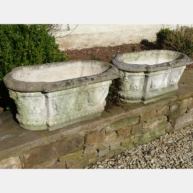Weathered Classical Planters (Pair)