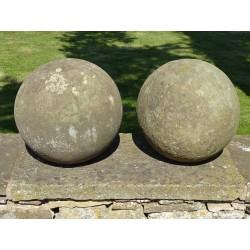 Stone Ball Finials (Pair)