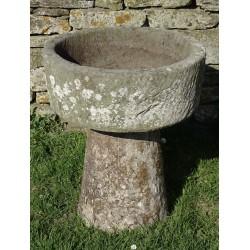 Round Stone Trough on Column