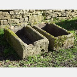 Pair of Matching Stone Troughs