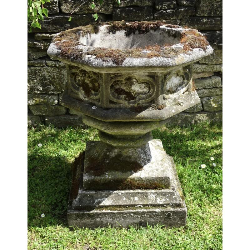 Weathered Gothic Garden Urn