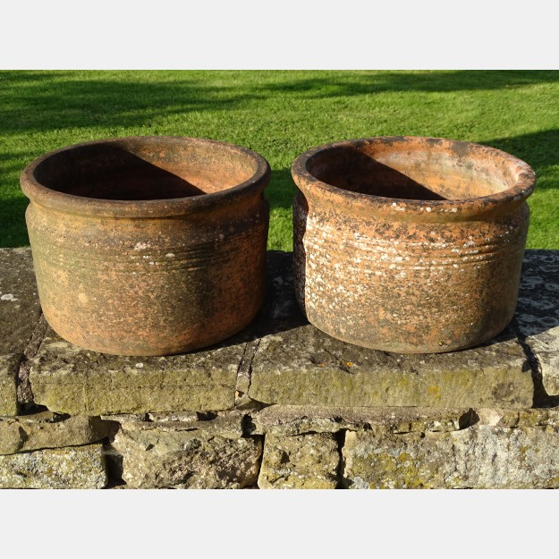 Weathered Rib Pots (Pair)