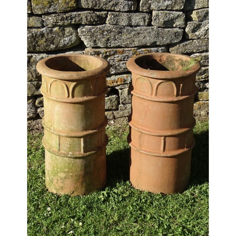 Terracotta Chimney Planters (Pair)