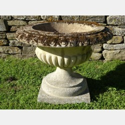 Weathered Composition Stone Urn