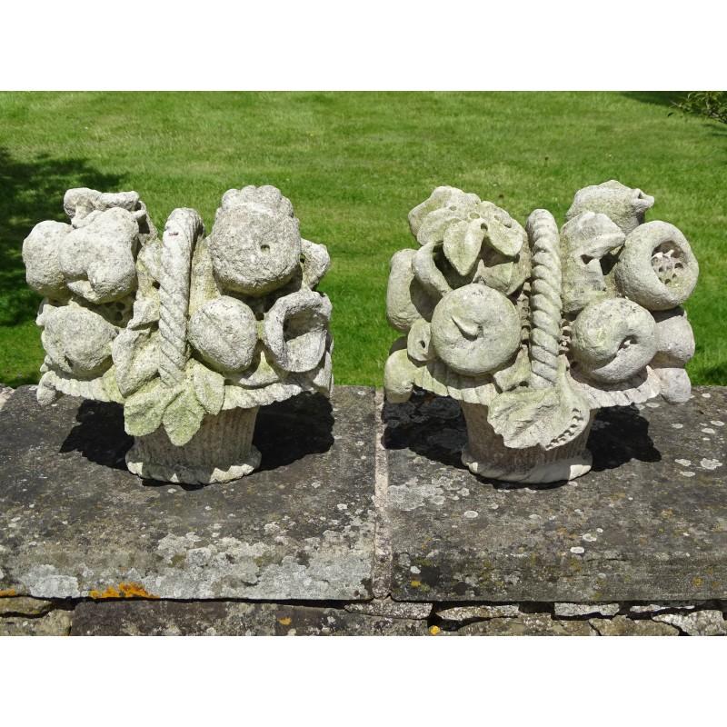 Antique Limestone Finials (Pair)