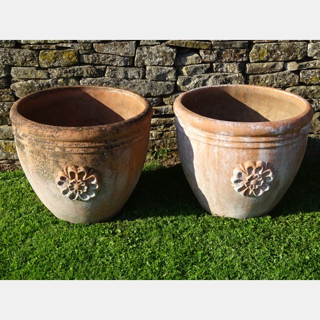 Weathered Terracotta Planters (Pair)