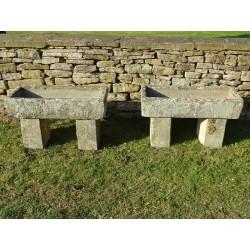 Antique Stone Troughs (Pair)