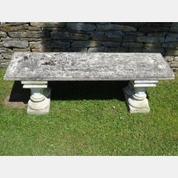 Large Composition Stone Bench