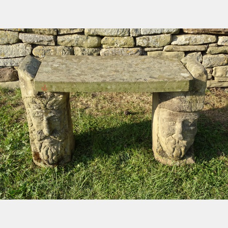 Unusual Sandstone Garden Seat
