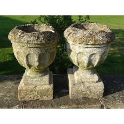Antique Stone Urns (Pair)