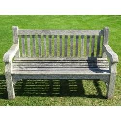 Weathered Teak Garden Bench