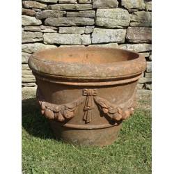 Vintage Terracotta Apple Pot
