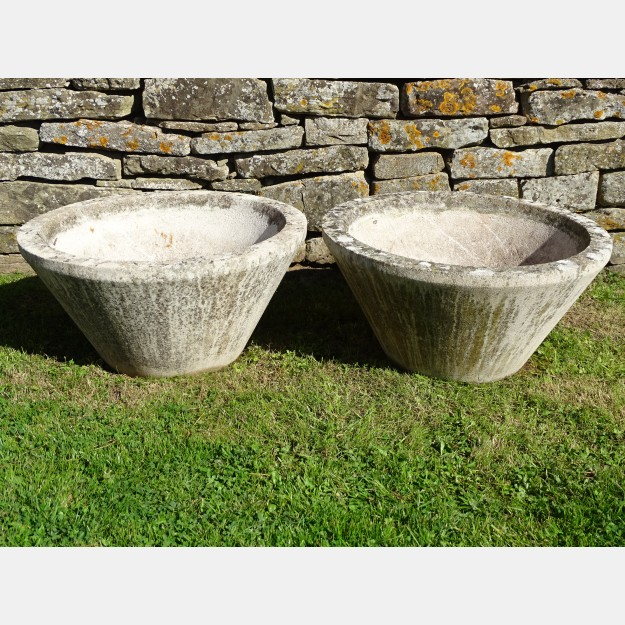 Weathered Tapered Planters (Pair)