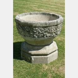 Weathered Large Garden Urn