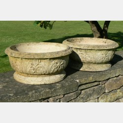 Pair Weathered Planters