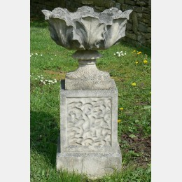 Weathered Composition-Stone Urn