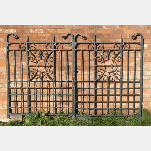 Antique iron gate